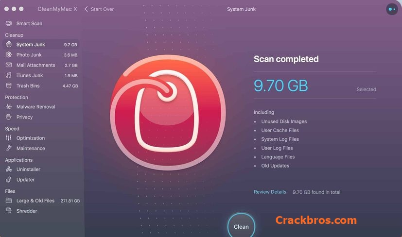 CleanMyMac X 4.6.9 Crack + Activation Code Free 2020